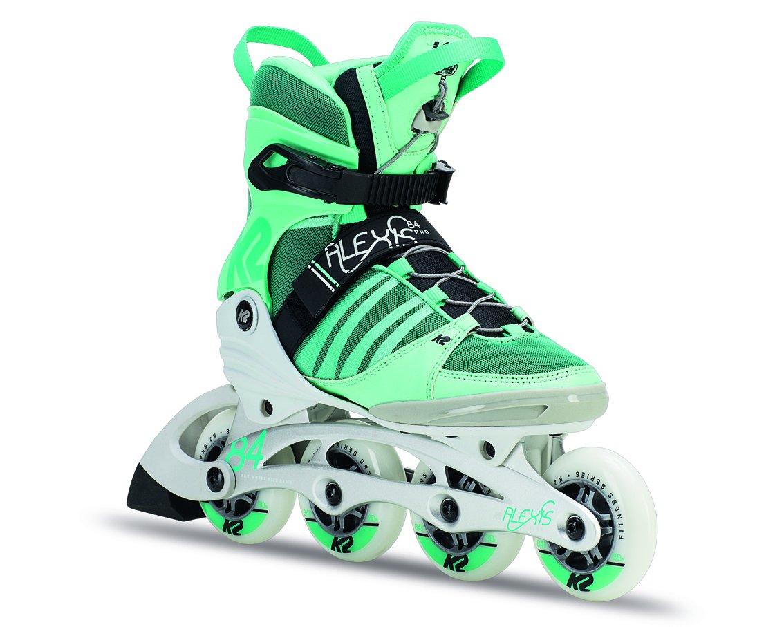 K2 Skate Womens Alexis 84 Pro Inline Green White 11 30off Aggressive Skates