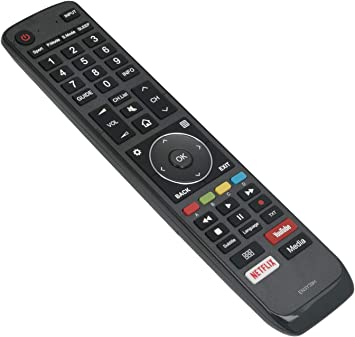 ALLIMITY EN3Y39H EN-3Y39H Mando a Distancia reemplazado por Hisense 4K HDR ULED TV H75U9A H65U9A H65U7A H65AE6400 H55U7A H55AE6400 H55A6550 H50AE6400 H50A6550 H43AE6400 H43A6550: Amazon.es: Electrónica