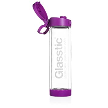 0586c5d327 Glasstic Shatterproof Glass Water Bottle - 16oz - Flip Cap Sports ...