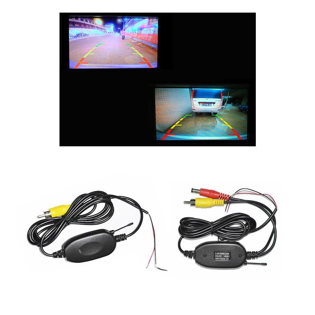 Wireless Parking hot sale RCA Wireless Transmitter & Receiver for car Rear backup Reversing view Camera Monitor