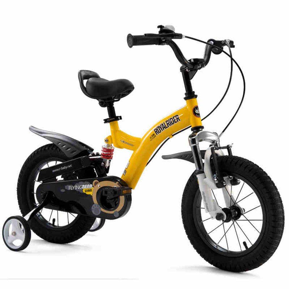 XQ TY-107 男の子 女の子 12/14/16/18 インチ 自転車 ショックプルーフ 子供用自転車   - 黄 子ども用自転車 18 Inch  B07C5XNBDQ