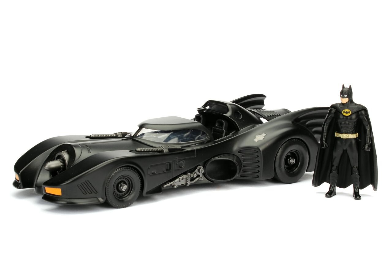 Jada 98260 Toys Dc Comic 1989 Batmobile with 2.75 Batman Metals Diecast Vehicle with Figure Black