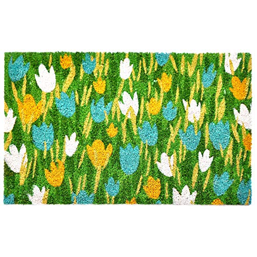 Liora Manne NTR12209103 Natura Novelty Tulip Field Outdoor Rug, 18