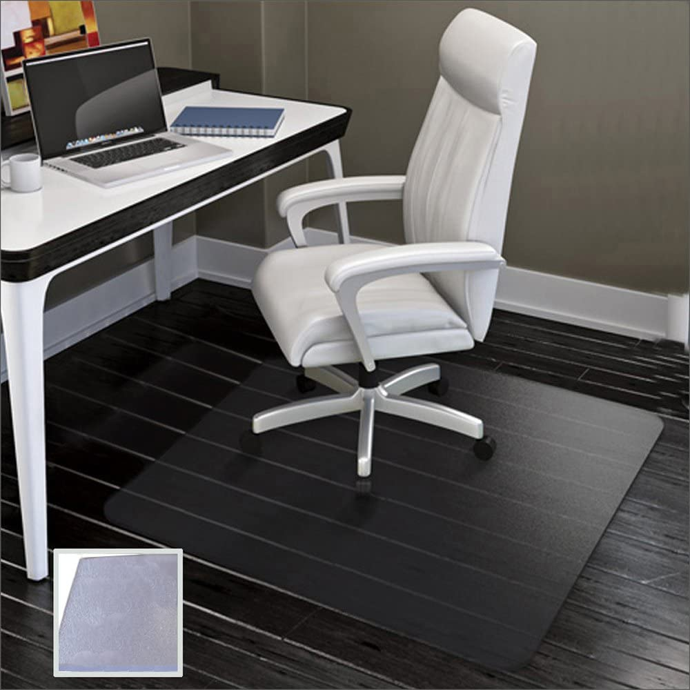 SHAREWIN Office Chair Mat for Hard Floors - 47''×47'',Heavy Duty Clear Wood/Tile Floor Protector PVC Transparent