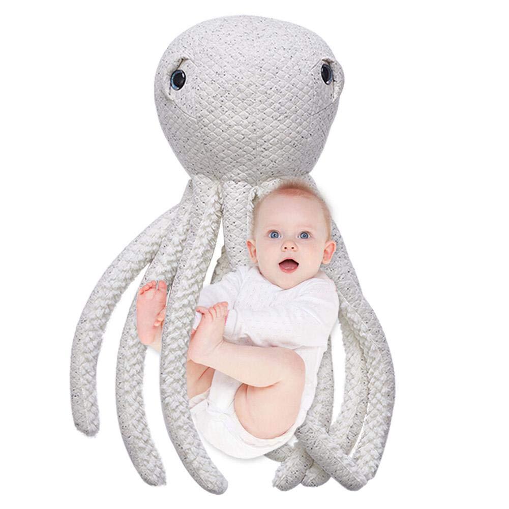 Cute Octopus, cuscino 24,9 x 78,7 cm morbido peluche Baby doll Stuffed Fish Animal Plush Toys Dolls per bambino/bambini/ragazzi/adulti Big Size Christmas Home Decoration New Style, A 9x 78 Sue Supply