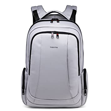 e732c6ce4c Tigernu Business Laptop Backpack Anti-theft Water Resistant Nylon Computer  Bag fits up to 15.6 inch Laptop Macbook Pro (Silver grey)  Amazon.co.uk  ...