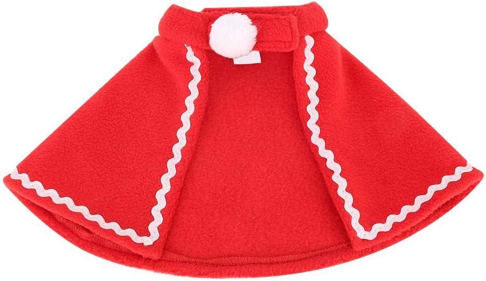 2# Pet Red Mantle Soft Cute Pet Cloak Rabbit Christmas Clothes Small Pet Festival Costume for Rabbit Guinea Pig Kitten Puppy