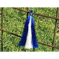 Show Pig Whip - Navy Stick with Blue & White