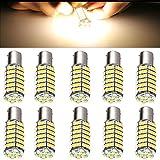 cciyu Pack of 4 Warm White 1156 BA15S RV Trailer 12V LED Lights Bulbs 120 SMD 1141 1073 High Mont Stop Light For 2007-2009 Kia Spectra