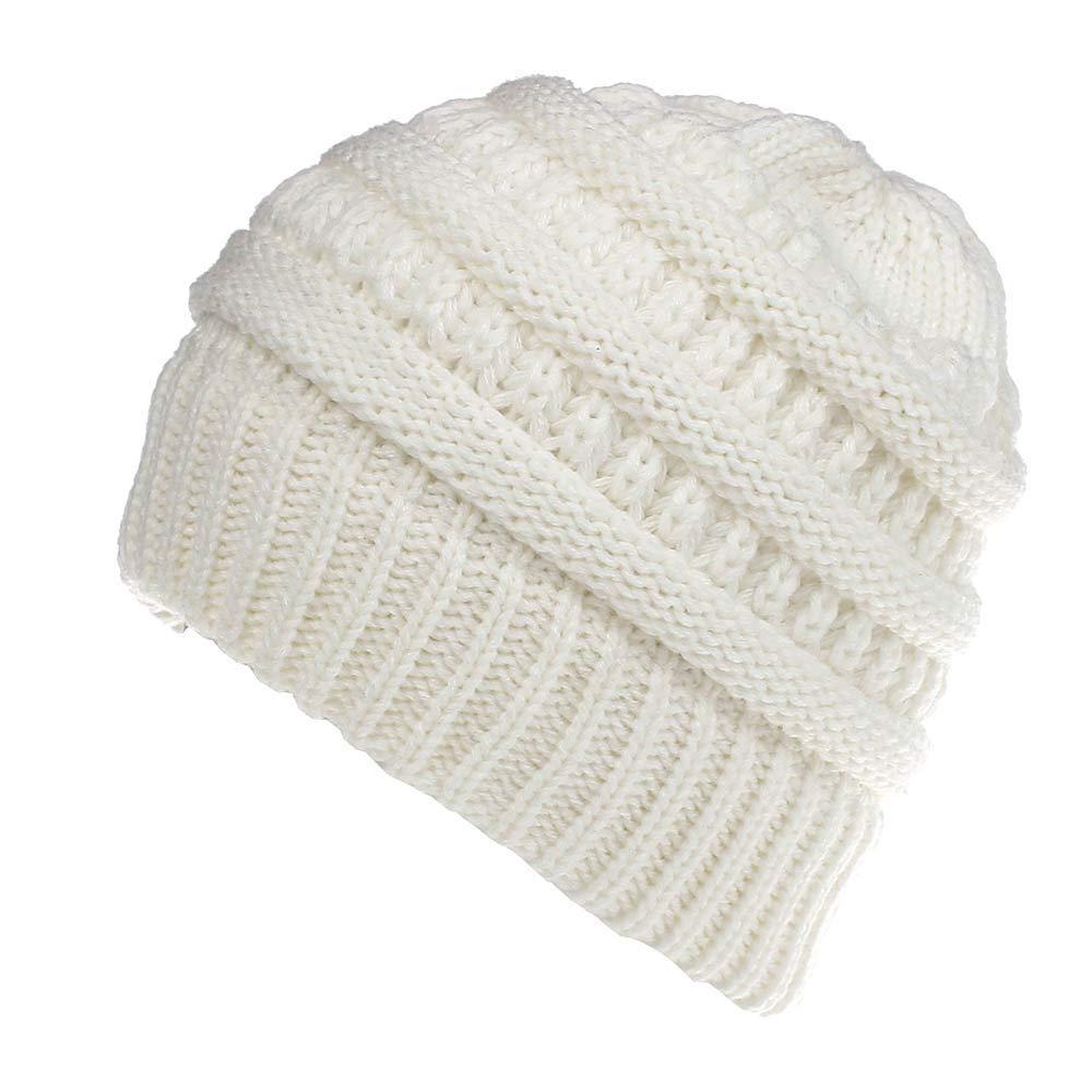 Bonnet Bonnet De Ski Chapeau de dames de couleur unie bonnet de laine chapeau occasionnel mâle (couleur: blanc) Pour les femmes hommes (Couleur : Beige) vfgbdtjn