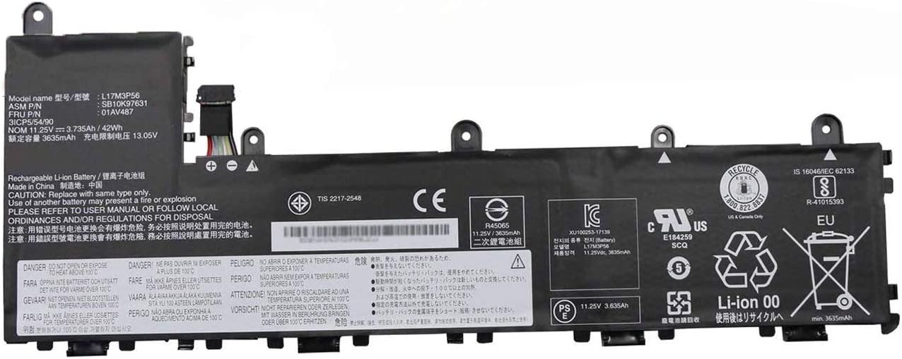 BOWEIRUI L17M3P56 SB10K97631 01AV487 (11.25V 42Wh 3735mAh) Laptop Battery Replacement for Lenovo Thinkpad Yoga 11e 5th Gen (Type 20LN 20LM) Series Notebook L17L3P54 SB10K97630 1AV486