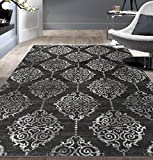 Contemporary Transitional Soft Area Rug 7′ 10″ x 10′ Gray