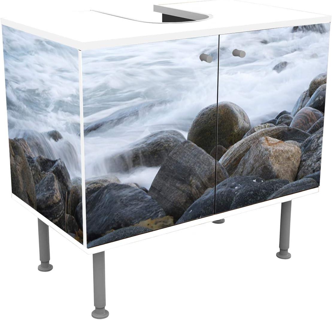wandmotiv24 Mueble de baño Tormenta en Alnes, Giske Pegado Frontal ...