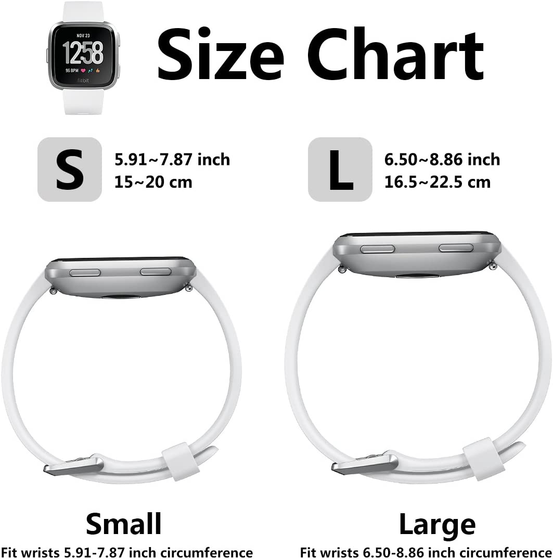 KUTOP per Fitbit Versa Cinturino Fit Bit Versa Replacement Braccialetto Accessori