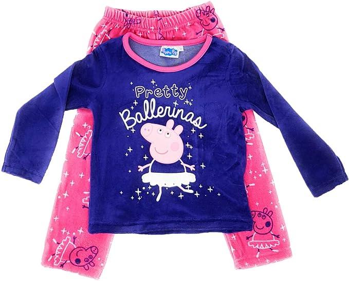 Peppa Pig Pig - Pijama Largo para niña Morado Medium: Amazon.es ...