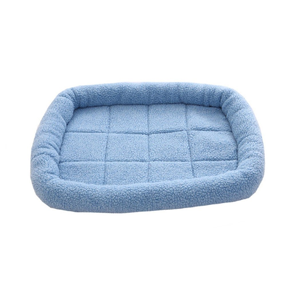 bluee 5040cm bluee 5040cm Pet Bed Dog Mat Pet Mat Pet Sleeping Pad Cat Dog Nest Washable Pet Supplies Small Medium Sized Dogs Rectangle Pet Bed