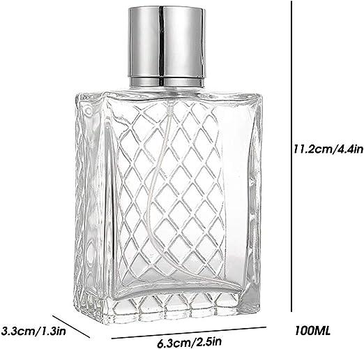 Kikier Square Flat Bottle, Plaid Shape