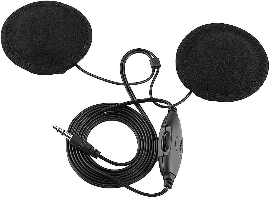 Motorcycle Helmet Headset Black Stereo Sound Helmet Headset Call Headphone with Extension Cable