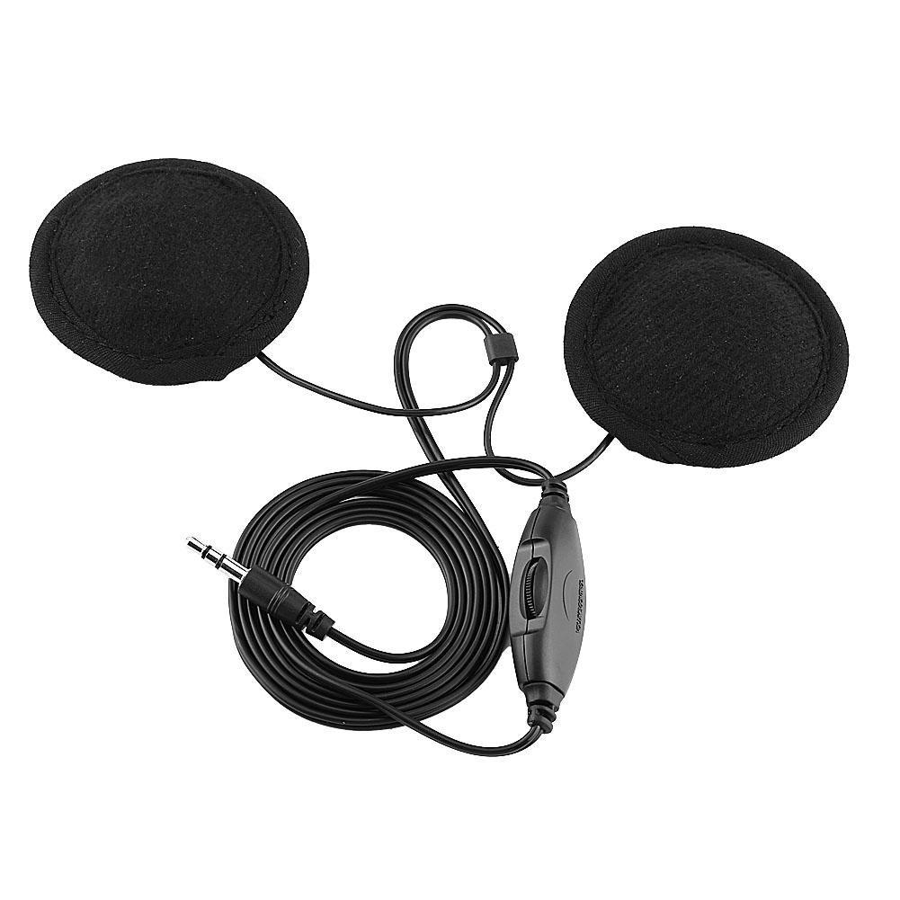 Qiilu QL02083 Cuffia per Moto Casco Cuffia Stereo Chiamata Auricolare da 3,5 mm Jack-Plug per Cellulare MP3