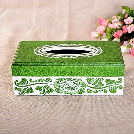 XBR Caja de Madera Pintada de Moda Caja Hogar Europeo Living Box: Amazon.es: Hogar