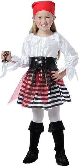 Disfraz de Pirata 3-4 años para niña - 36990BT: Amazon.es ...