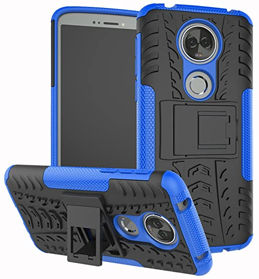 the latest 60f75 c5e6c Moto E5 Plus Case, Moto E5 Supra Case, Yiakeng Dual Layer Shockproof Wallet  Slim Protective with Kickstand Phone Case Cover for Motorola Moto E Plus ...