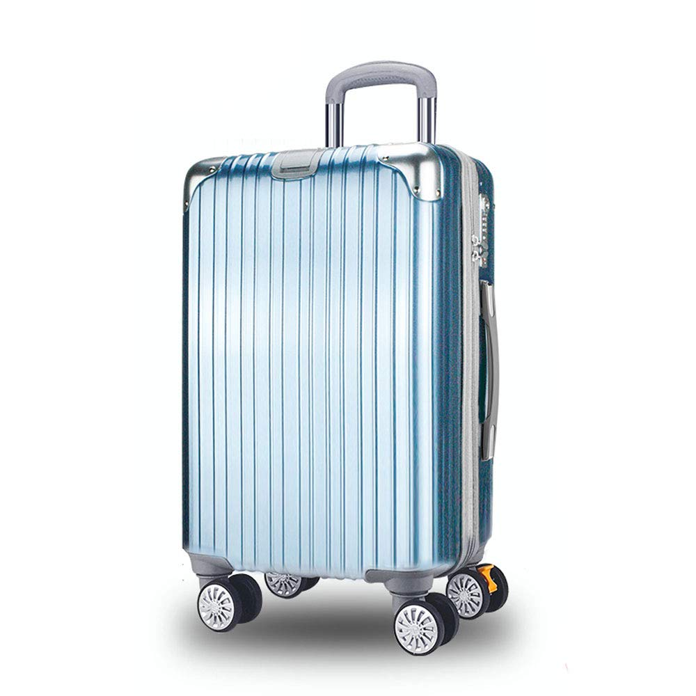 WJ スーツケース トロリーケース - ABS + PC、TSA税関ロック、大口径ブレーキキャスター、スタイリッシュな傷のつきにくい起毛フック大容量スーツケース - 4色、2サイズ利用可能 /-/ (色 : Yacht blue, サイズ さいず : 36.5*23*56cm) B07NL7FNB8 Yacht blue 36.5*23*56cm