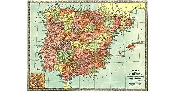 Iberia Map on