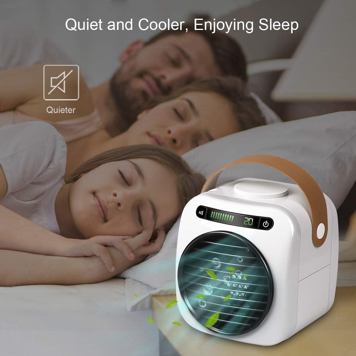 O2cool Fin Treva 10 Inch Portable Desktop Air Circulation