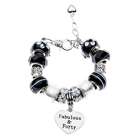 Amazon Infinity Collection 40 And Fabulous Charm Bracelet 40th