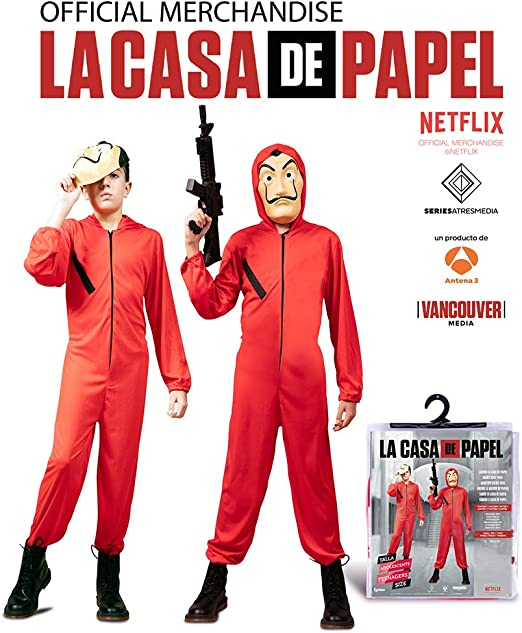 EUROCARNAVALES Disfraz de Ladrón la casa de Papel: Amazon.es: Juguetes y juegos