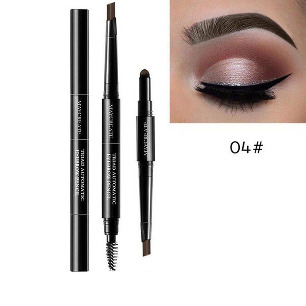 Eyebrow Pencil gLoaSublim, 3 in 1 Waterproof Eyebrow Pencil Powder Eye Brow Brush Pigment Beauty Makeup Kit - Dark Coffee