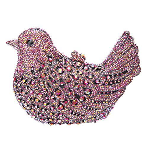 Purses Ab Red Bonjanvye Glitter Girls Evening Bird Rhinestone Bag For Blue Clutch qIvBIP
