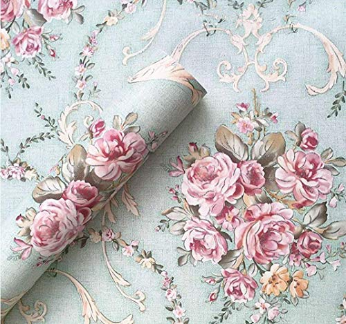 Removable Wallpaper Peel and Stick Vintage Floral Contact Paper Decorative Self Adhesive Shelf Liner Roll 17.7x118 Inch