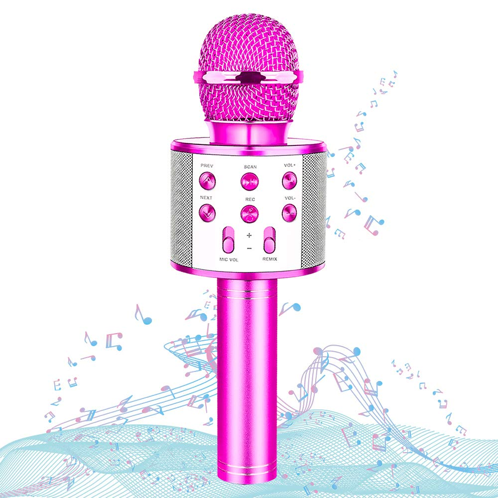 HahaGift Toys Birthday Gifts for 3 4 5 6 7 8 9 Year Old Girls, Bluetooth Karaoke Microphone for Kids Toys for 3-14 Year Old Girls Boys Purple by HahaGift (Image #1)