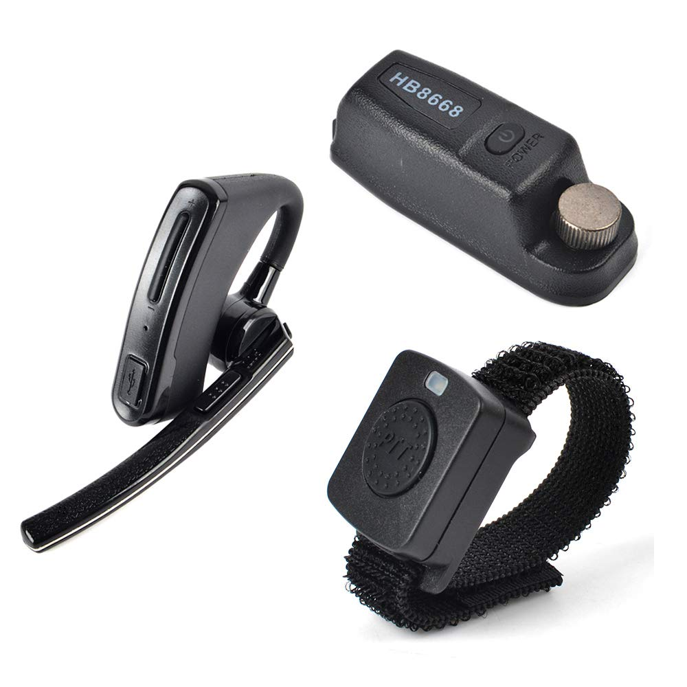 HYS Wireless Bluetooth Earpiece/Headset with Wireless PTT and Dongle for Motorola XPR 6000 XPR6500 XPR6550 XPR 7000 XPR 7550 XiR-P8200 XiR-P8268 Two-Way Radio