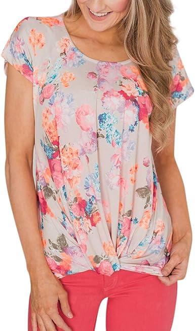 Poachers Tops Deportivos Push up Blusas para Mujer Verano Camisetas Mujer Verano Talla Grande Camisas Mujer Verano Manga Corta Camisa de Cuello Redondo Estampada: Amazon.es: Ropa y accesorios