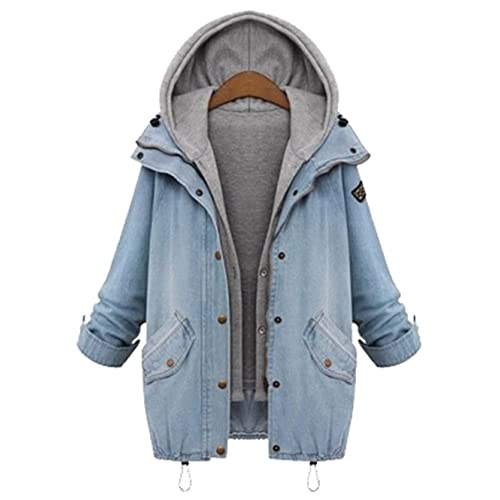 Hooded Jean Jacket Amazon Com