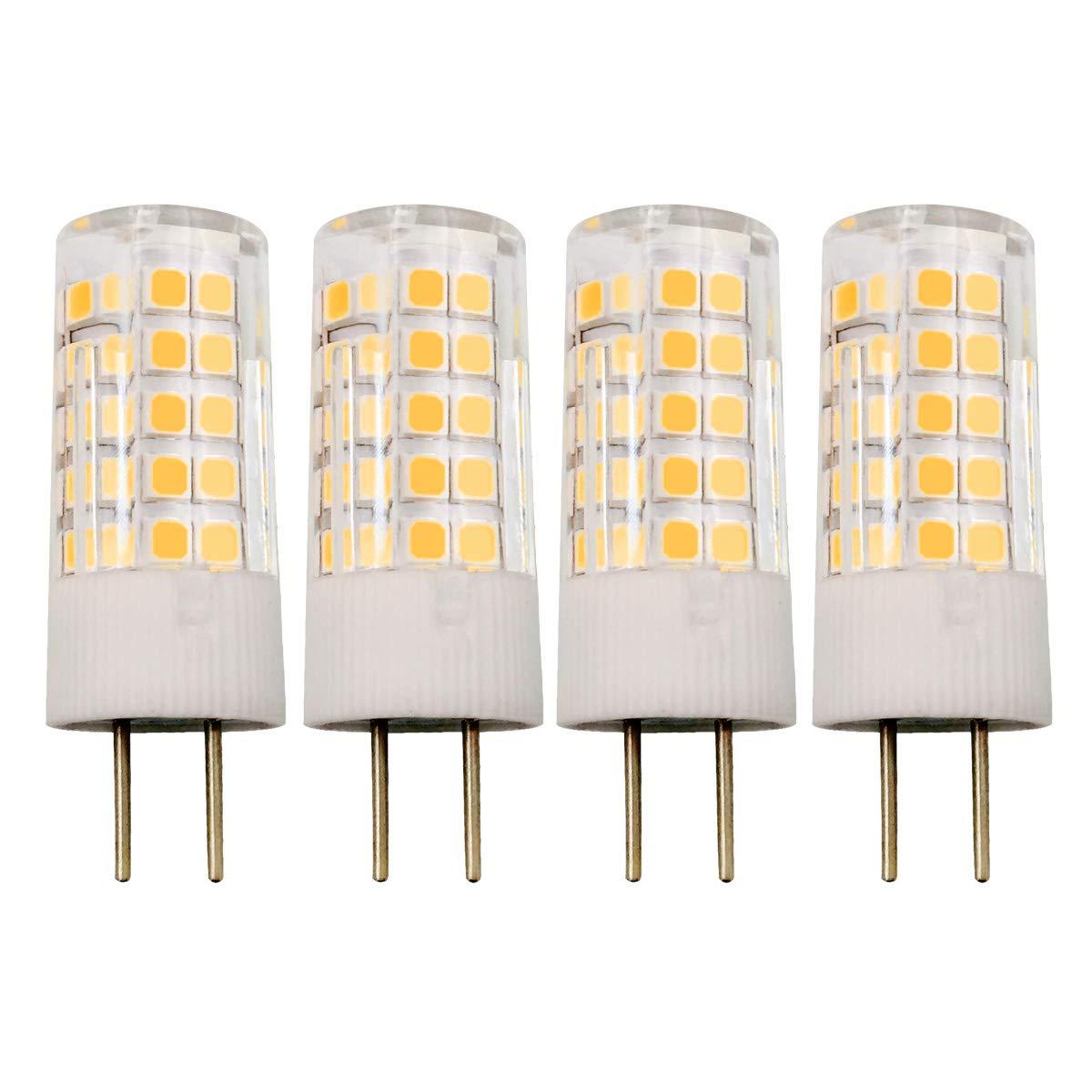 4W JC GY6.35 LED電球 120V 35W T4 ハロゲン GY6.35 ベース電球相当 温白色 4個パック   B07MGL9LK8