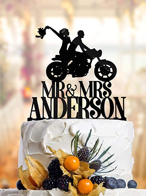 Superb Dkisee Cake Topper Funny Wedding Cake Topper Dirt Bike Cake Funny Birthday Cards Online Necthendildamsfinfo