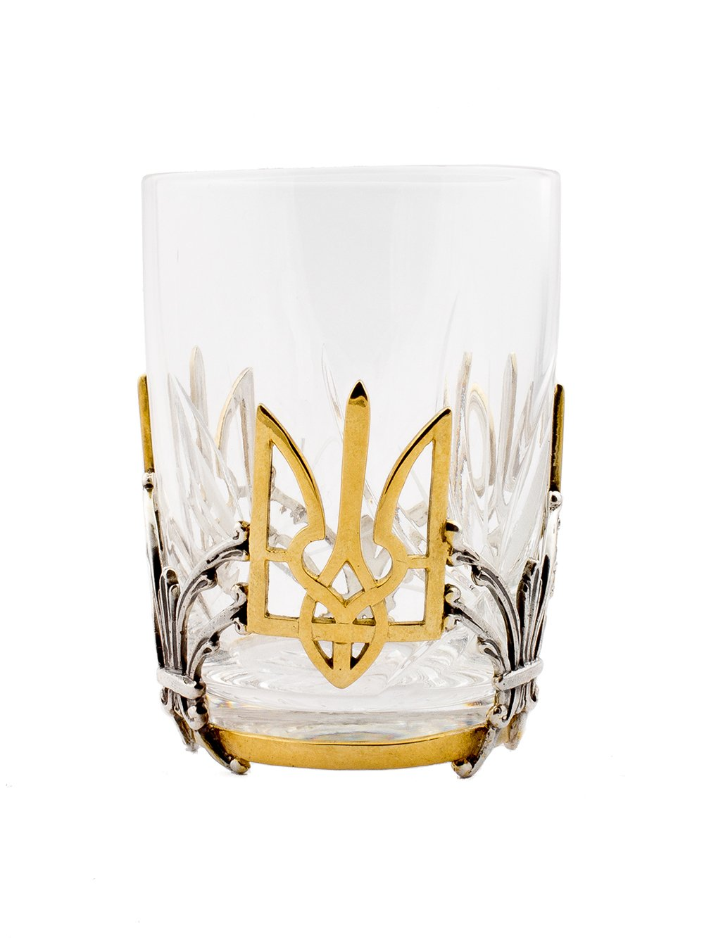 Silver Shot glass ''Ukrainian Coat of arms'' - Gift for Dad - Collectables gift - Silver Wedding Anniversary Gift