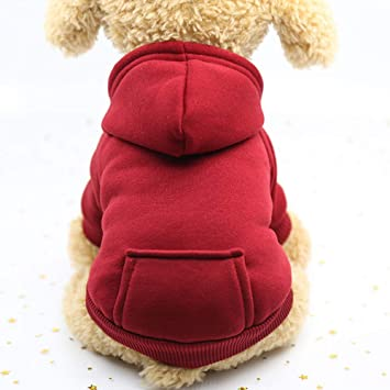 Mascota Gato Ropa para Perros Invierno Cálido Chaleco Suave Arnés Cachorro Perro pequeño Abrigo Ropa Sudadera con Capucha con Bolsillo: Amazon.es: Productos ...