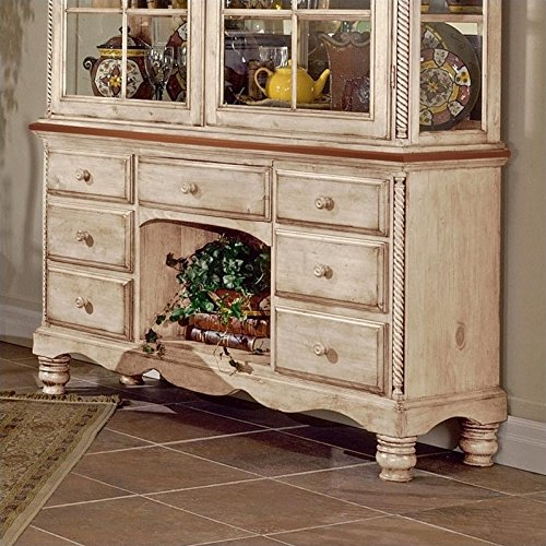 Hillsdale Wilshire Buffet and Hutch in Antique White Finish by Hillsdale (Image #2)