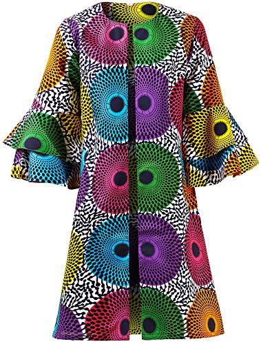 - Shenbolen Women African Print Jacket Dashiki Traditional Top Dress(A,X-Large)