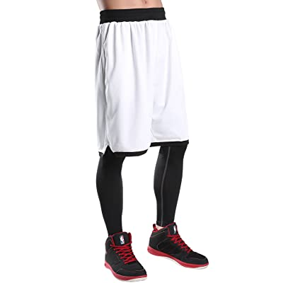 JEASS Basketball Shorts For Men Workout Shorts With Pockets Mesh Lining