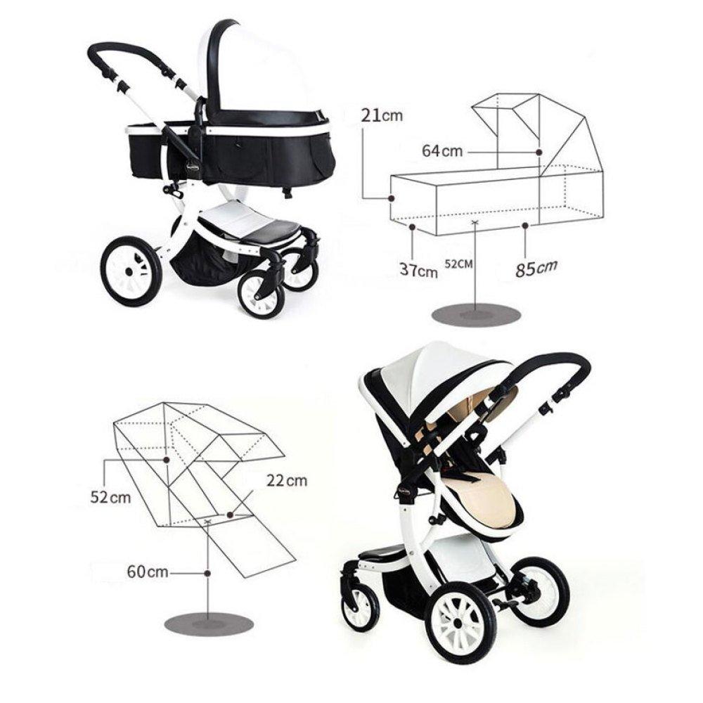 LLX Cochecito De Bebé Alto Paisaje Puede Sentarse Bebé Reclinable Plegable Bicicleta Niños Recién Nacidos 0-3 BB Carro De Bebé,Lightpink: Amazon.es: Jardín