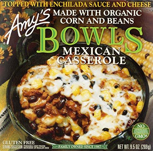Amy's Frozen Bowls, Mexican Casserole, Non GMO, 9.5-Ounce