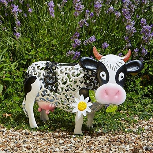 Smart Garden Outdoor Solar LED Garden Light Daisy Cow Design, Changing Colour