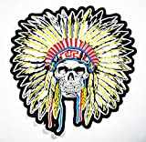 Big Size Colorful Indian Skull Patch