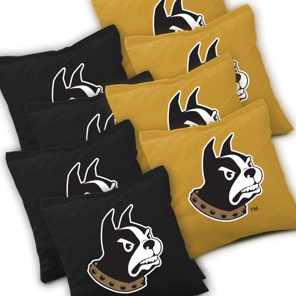 WOFFORD TERRIERS Cornhole Bags SET of 8 Officially Licensed ACA REGULATION Baggo Bean Bags ~ Made in the USA
